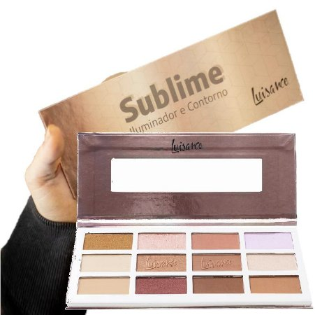Luisance - Estojo de Maquiagem Sublime Iluminador e Contorno L7111 - Kit C/ 3 Unid