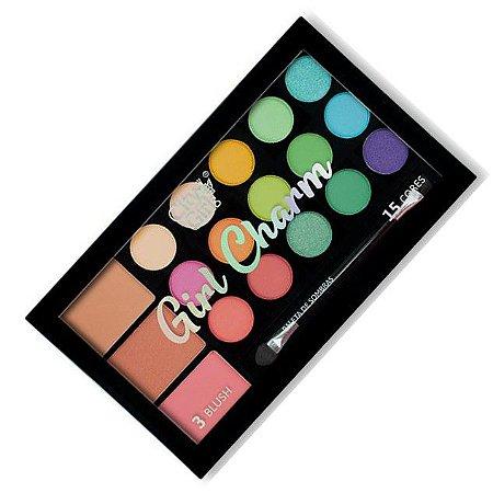 Paleta de Sombras e Blush Girl Charm City Girl CG249 - Cor A