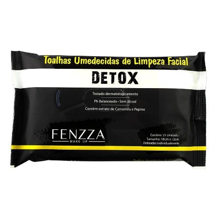 Fenzza - Toalhas Umedecidas de Limpeza Facial Detox FZ51013