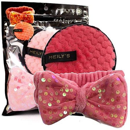 Meily's - Kit Limpeza Facial Faixa de Cabelo e Esponja RemovedoraMAC-288 ( 6 Kits )