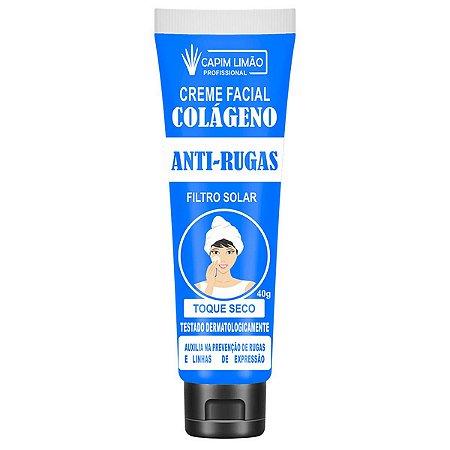Creme Facial Anti Rugas C/ Filtro Solar Capim Limão