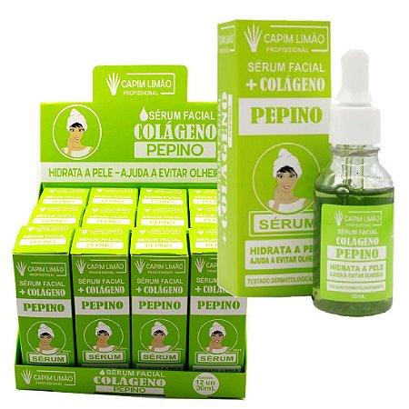 Sérum Facial Anti Olheiras Pepino Capim Limão - Display com 12 unidades