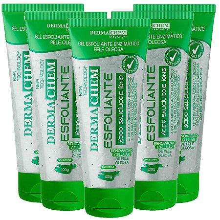 Dermachem - Gel Esfoliante Facial Acido Salicilico Pele Oleosa (06179) - 06 Unid