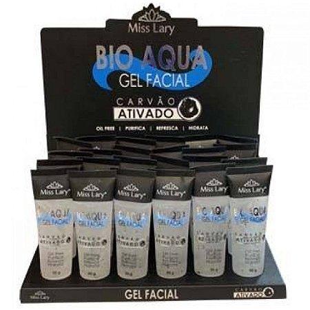 Gel Facial Bio Aqua Carvão Ativado Miss Lary ML-098 ( 24 Unidades )