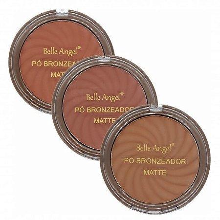 Belle Angel - Pó Bronzeador Matte B003 - 03 Unid