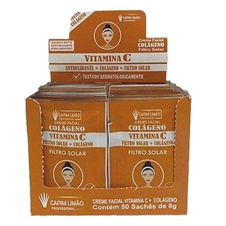 CAPIM LIMÃO Box Mascara Sachê Creme Vitamina C - SA02- 50 Unidades
