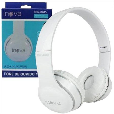 Fone de Ouvido Branco Headphone FON-8613