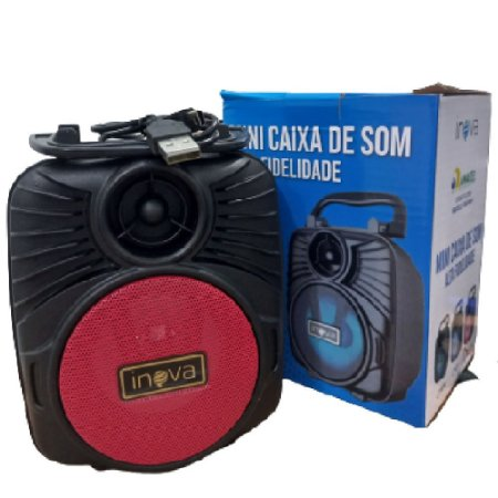 Inova - Mini Caixa de Som  VERMELHO RAD-8601