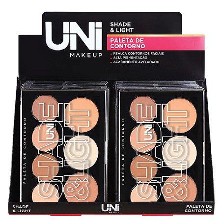 Uni makeup - Paleta de Contorno em Pó Shade Light - 12 Unid