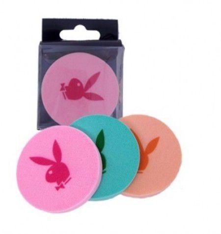 Kit 3 Esponjas de Maquiagem para Bases Líquida Playboy ( 12 Unidades )