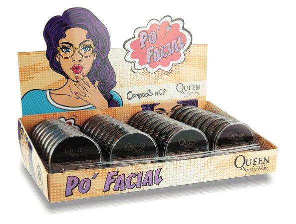 Pó Facial Compacto Cores Morenas Queen #02 ( 32 Unidades )