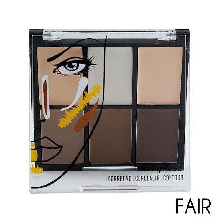 Paleta de Corretivo Facial  Ruby Rose Fair HB 8088
