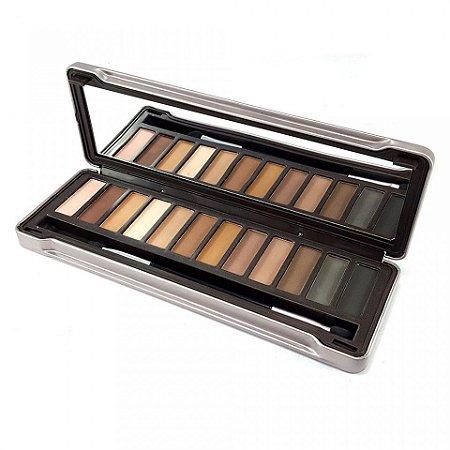 Paleta de Sombras Nude com Espelho em Estojo de Metal ( 12