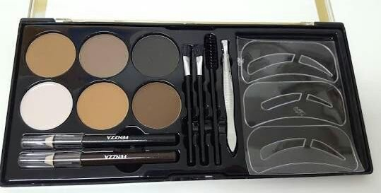 PALETA KIT OLHOS E SOBRANCELHAS BROWN AND BLACK FENZZA KM19