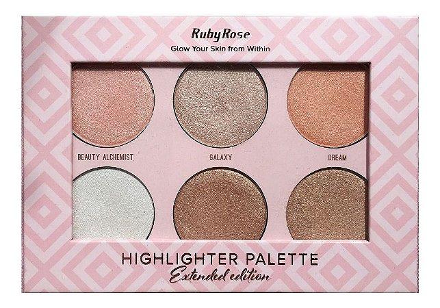 Paleta de Iluminador Ruby Rose  Highlighter Palette HB 7501