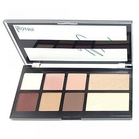 Paleta de Sombra Matte e iluminador Universo Makeup Luisance L1031-B