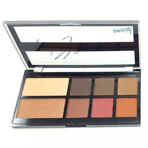 Paleta de Sombra Matte e iluminador Universo Makeup Luisance L1031-A