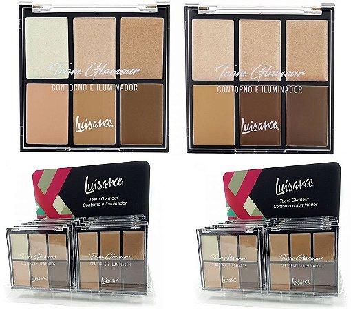 Paleta Team Glamour contorno e Iluminador Luisance L8002 ( 12 UNIDADES)