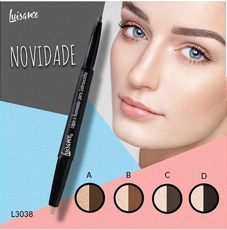 Lápis e Iluminador para Sobrancelha Luisance L3038 ( Display com 48 Unidades )