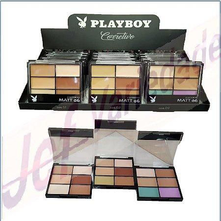 Paleta Sexteto de Corretivo Playboy ( 18 Unidades ) HB 92978