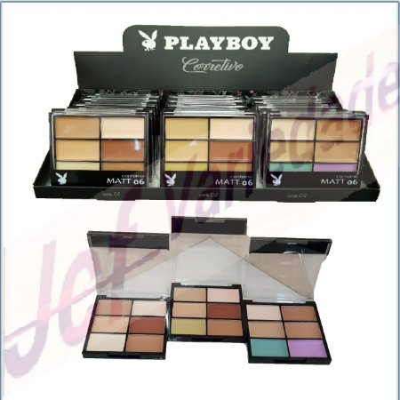 Paleta Sexteto de Corretivo Playboy ( 03 Unidades ) HB 92978
