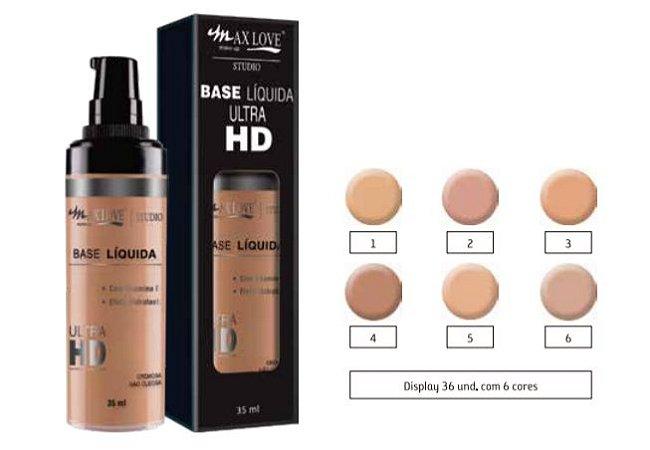 Max Love - Base Hidratante Ultra HD com Válvula ( Display 36 Unid e Prov )