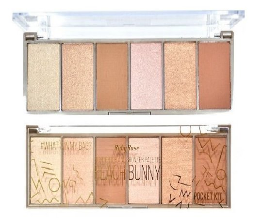 Paleta Iluminador Pocket Beach Bunny 7514 Ruby Rose