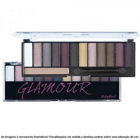 Paleta de Sombras Matte Ruby Rose Glamour HB 9907