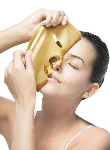Máscara Facial Ouro Face Beautyful - Vitamina C, Colágeno e Filtro Solar ( 05 Unidades )