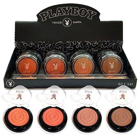 Box de Blush Playboy 4 Tons PB1035 ( 16 Unidades e Provadores )