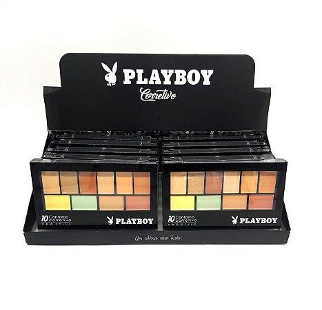 Paleta de Contorno e Corretivo 10 Cores Playboy HB92968 ( 12 Unidades )