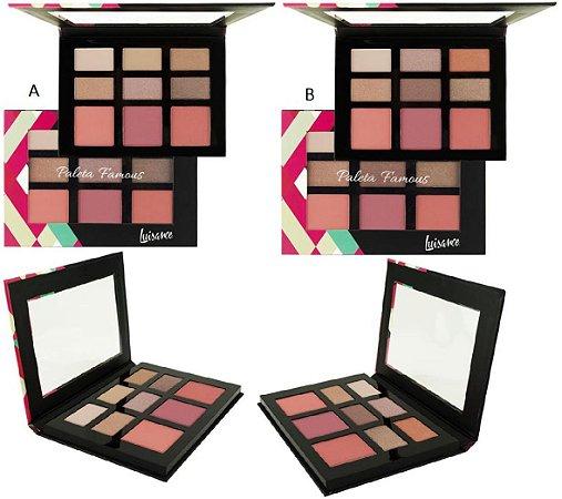 KIt de Maquiagem Famous - Sombras e Blush Luisance L793 ( 12 Unidades )