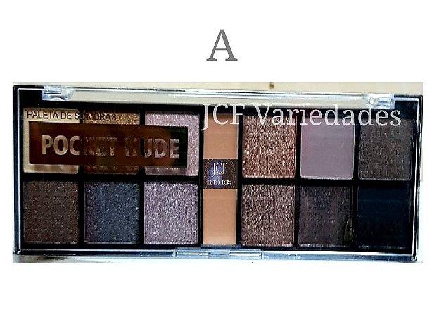 Paleta de Sombras Matte e 3D Luisance Pocket L789-A