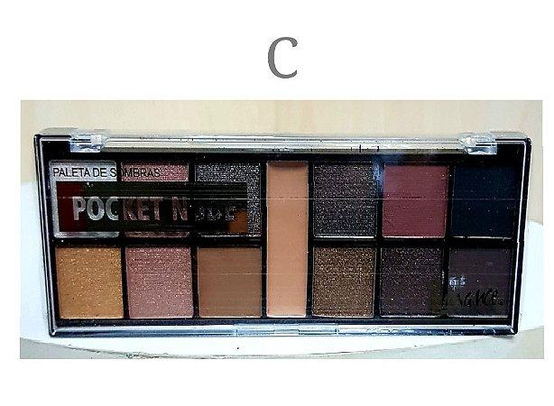 Paleta de Sombras Matte e 3D Luisance Pocket L789-C