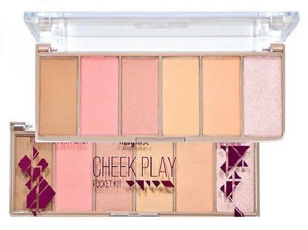 Paleta de Blush Contorno e Iluminador Cheek Play Ruby Rose HB7515