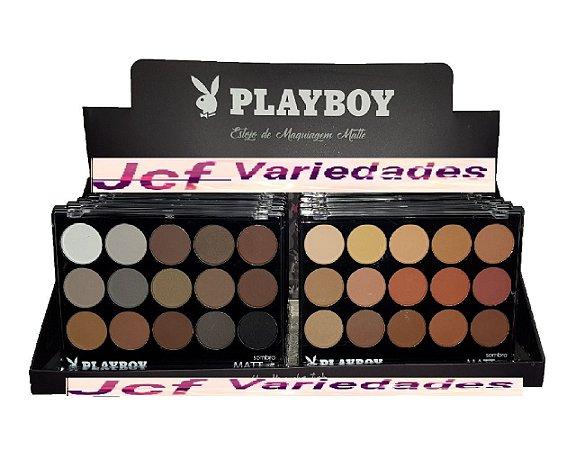Paleta de Sombras Matte Nudes Foscas Playboy HB89556 ( Display com 12 Unidades )
