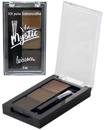 Kit para Sobrancelhas  Corretivo e Sombras Mystic Luisance L9025 ( 01 Unidade )