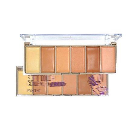 Paleta de Corretivo e Contorno Facial Medium Ruby Rose HB8096M - 12 Unidades