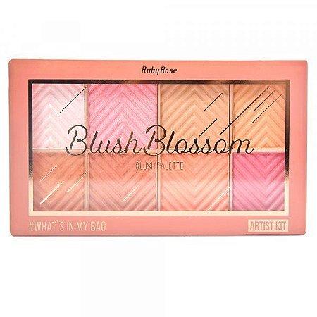 Paleta de Blush Blossom 8 Cores Ruby Rose HB-6112 ( 12 Unidades )