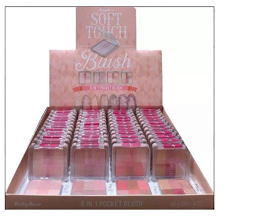 Kit de Blush Soft Touch Ruby Rose HB6109 ( 48 Unidades e Provadores )