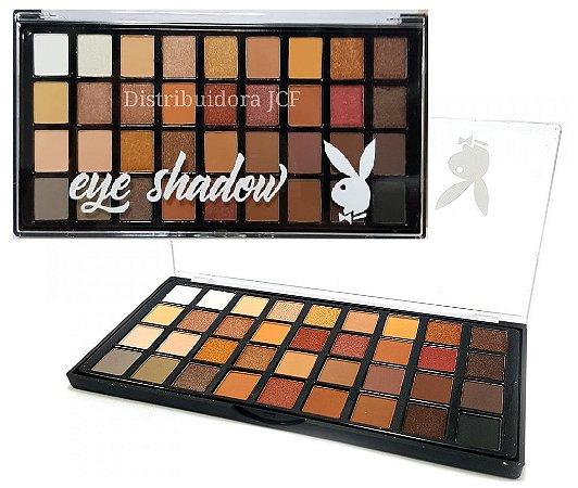 Paleta de Sombras Matte e 3D - 36 Cores Playboy HB94481 ( 12 Unidades )