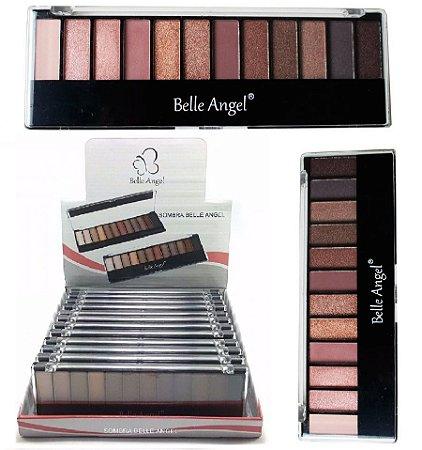 Belle Angel - Paleta de Sombras Matte e Cintilantesl B012-3 ( 12 Paletas )