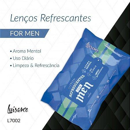 Luisance - Lenço Refrescante para Limpeza Facial for Men L7002A  ( 12 Unidades )