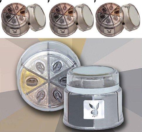 Estojo de Sombras Iluminadoras Asa de Borboleta 06 Cores Playboy HB89778PB ( 12 Unidades )