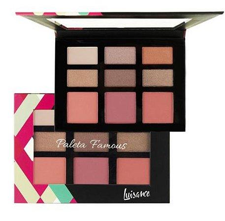 Estojo de Maquiagem Famous, Sombras e Blush - Luisance  L793 - B