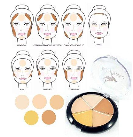 Bella Femme - Estojo de Contorno Facial com Manual BF10042 ( 12 Unidades )