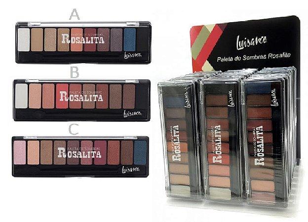 Paleta de 10 Sombras Rosalita Luisance L7103 ( 24 Unidades )