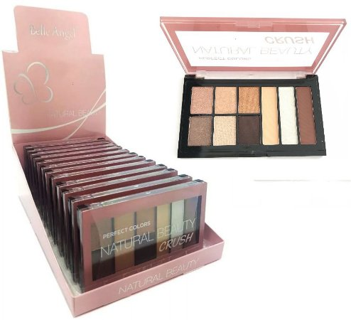 Paleta de Sombras Natural Beauty Crush Belle Angel T019 - Display com 12 unidades