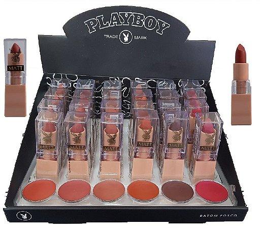 Batom de Luxo Matte Playboy HB94559 ( 06 Unidades )