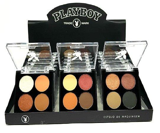 Quarteto de Sombras Matte e Peroladas Playboy HB94494 ( 3 Unidades )